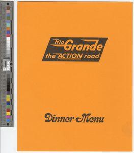 Dinner menu, 1981