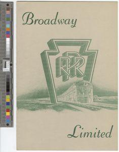 Menu, Broadway Limited, 1963