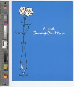 Amtrak dining car menu, 1976