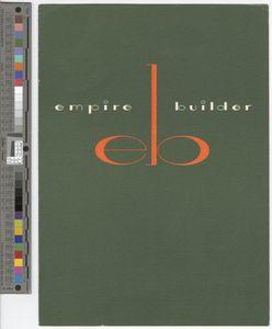 Menu, Empire Builder, 1962