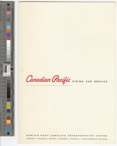Canadian Pacific dining car service, 1964