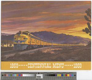 Centennial menu, 1969