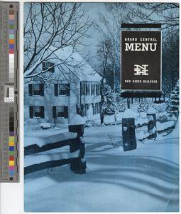 Grand Central menu, 1963